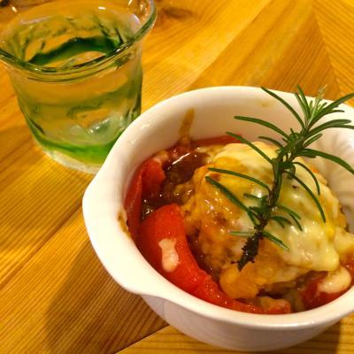 トマトファルシとお冷