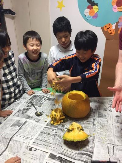 かぼちゃの種をとる03
