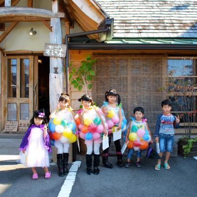 ハロウィン子供達衣装バルーン