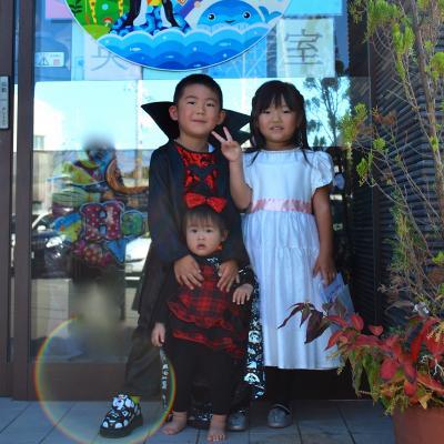 ハロウィン子供達衣装カップル