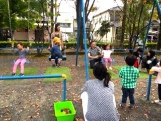 babyクラス公園で滑り台