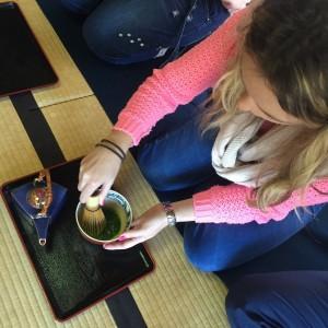 Gyokuro no Sato Tea House Making Tea