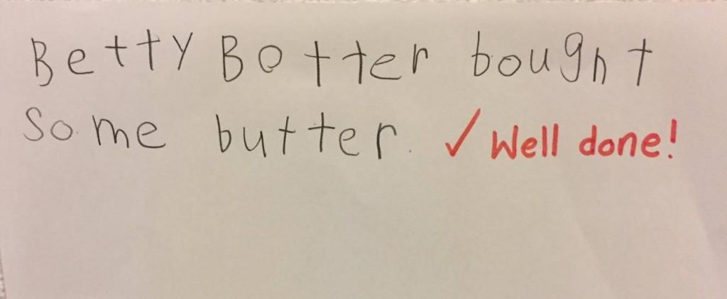Betty botter written