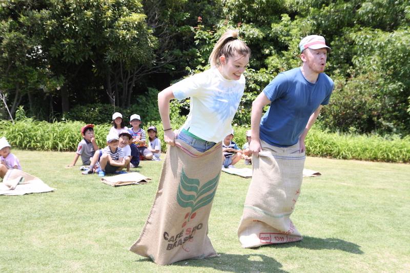 ホップステップジャンプ英語教室ピクニック2017サックレース