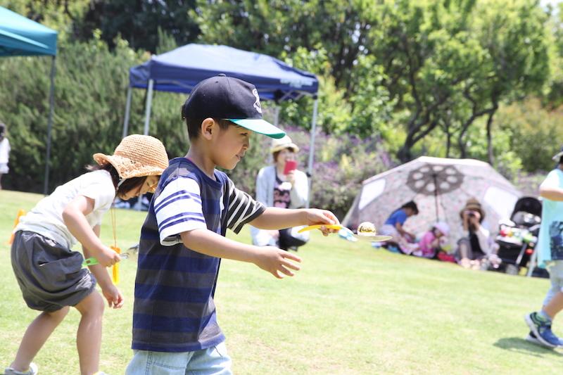 ホップステップジャンプ英語教室ピクニック2017イースターエッグハント